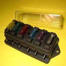 FUSE BLOCK Panel Box 6 Way Standard Blade ATC ATO Holder 12V 24V Camper Caravan