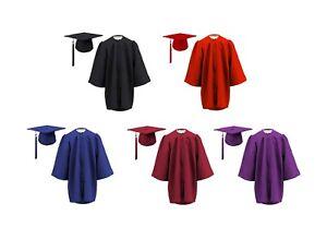10 x Children's Graduation Gown & Hat SET for 3-6 year olds-- MATT Finish