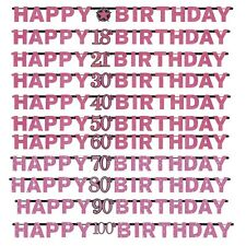 PINK Celebration Birthday Party Supplies Balloons Banners Tableware & Decoration