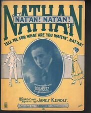Nathan Tell Me For What Are You Waitin 1916 Large Format Sheet Music