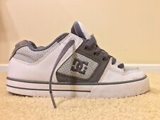 DC Shoes Pure Low, 300660, Men's White Skateboarding Shoes, Size 8.5, Used, Worn