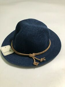 San Diego Hat Company Women's One Size Blue Brown Rope Paper NWT