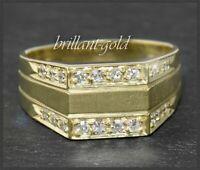 Diamant Damen Ring, 0,60ct in Top Wesselton & VVS, 585 Gold, 14 Karat Gelbgold