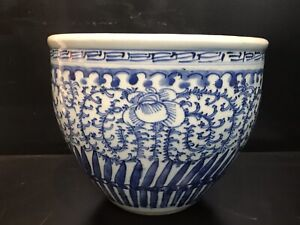Antique Chinese Blue and white porcelain bowl pot NO RESERVE!