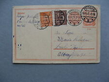 GERMANY INFLATION, uprated revalued prestamped PC (card) 16-10-1922, total 3,00