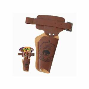 Cowboygürtel für Kinder, 1 Tasche, braun, 90 cm Pistolenholster