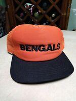 Vintage 80s Spell Out Bengals New Era Trucker Snapback Hat Cap NFL  Cincinnati