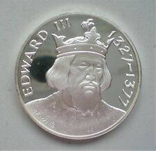 UK, John Pinches, Silver Proof Medallion,King Edward V ,44 mm and 40 gr {E661}