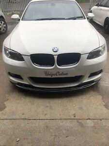 BMW 3 SERIES E92 E93 M SPORT PRE LCI FRP FRONT BUMPER LIP SPOILER SPLITTER black