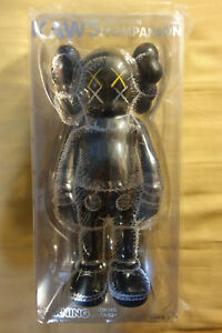 "Kaws Medicom Toy Open Edition ""2016 Black Companion"" Statue Sculpture Figure"