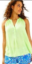 NWT Lilly Pulitzer Mojito Green Rianne Top Sz S