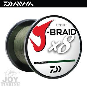 Daiwa J-Braid x8 Bulk Spool Fishing Line [JB8U100-500DG] 100lbs 550yards