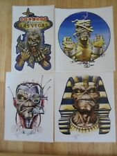 Set of 4 DEREK RIGGS stickers. Iron Maiden. Eddie