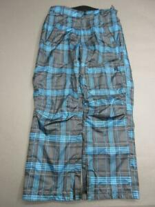 TRIPLE NICKEL SIZE S WOMENS BLUE/GRAY ATHLETIC INSULATED SNOW PANTS T879