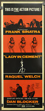 LADY IN CEMENT 1968 ORIG 14X36 MOVIE POSTER FRANK SINATRA RAQUEL WELCH