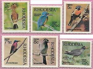 Rhodesia 1971 Set Native Birds sg 459-64 MNH