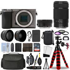 Sony Alpha a6000 Camera Graphite + 16-50mm + 55-210mm 32GB Multi Lens Bundle