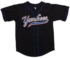 Vintage New York Yankees Jersey Large Black USA Made Teamwork Athletic Apparel