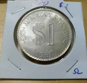 #omega-  Malaysia 1980 RM1 $1 Parliament Parlimen coin 1 pc