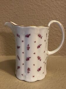 """Classic Rose Rosenthal Group Germany Creamer Rose And Gold 4"""" Tall"""