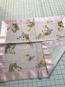 Little Suzie's Zoo Lovey w/Pink Satin Binding