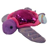Adventure Planet Sequinimals Plush -SEA TURTLE (Sequin - Purple & Silver) (10 in