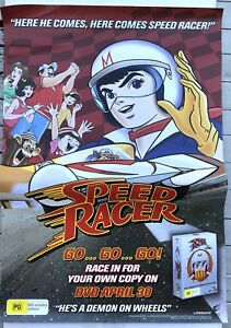 Speed Racer Classic Anime DVD Release Original Australian PROMO POSTER Large