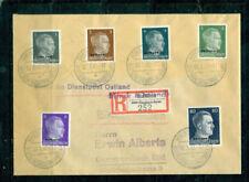 Echte Briefmarken aus deutschen Besetzungsgebieten im 2. Weltkrieg mit Bedarfsbrief