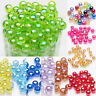 50/100Pc Acrylic Round Plated AB Loose Spacer Beads Jewelry Making 8mm Wholesale