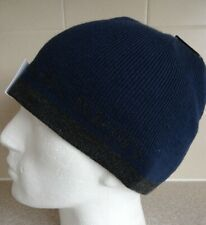 CALVIN KLEIN ~ BEANIE HAT ~ REVERSIBLE ~ AUTHENTIC ~ BLUE/ GREY ~ PURE QUALITY