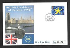 British Presidency of Europe 1992 50p fifty pence coin PNC commemorative cover.