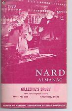 1970 NARD Almanac Gillespie's Drugs Caldwell Ohio Jerry Marcus