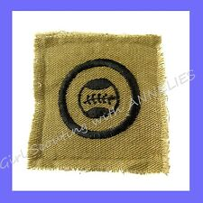 Square KHAKI, ATHLETE Girl Scout EUC Badge 1920-27 Basketball Ball CLEAN Combine