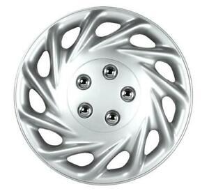 """QUALITY 16"""" GEARX WHEEL COVERS SILVER CONTIA SET OF 4"""