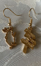 Handmade Fashion Jewelry Charms Gold Dainty Earring Rabbit Road Sign Gifts