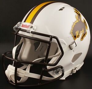 WYOMING COWBOYS NCAA Riddell SPEED Full Size Replica Football Helmet