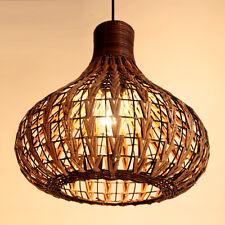 "Handmade 14"" Modern Rattan Ceiling Pendant Lamp Living Lights Fixture Chandelier"