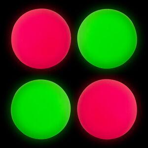 4 X LARGE Fluorescent Dog Ball Pet Throw Fetch & Retrieve Play Fun Toy
