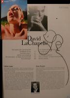 David Lachapelle signiert Fotografie Stern Orig. Unterschrift Signatur Autogramm