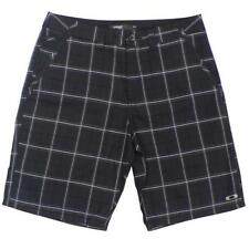 Oakley VOLTAGE Walkshort Size 32 M Black Plaid Short Mens Casual Dress Shorts