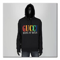 GUCCI 1350$ Authentic New Cities Rainbow Logo Hooded Sweatshirt