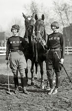 "POLO 1925 photo, Women, 16""x11"" print, Beautiful Horses, antique vintage SPORTS"