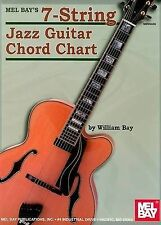 NEW Mel Bay 7-String Jazz Guitar Chord Chart by William Bay