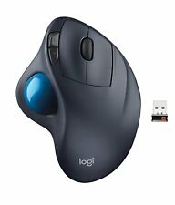 Logitech M570 Laser Wireless Trackball Computer Mouse 910-001799 Gray/Blue