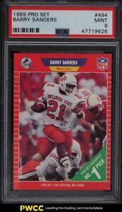 1989 Pro Set Barry Sanders ROOKIE RC #494 PSA 9 MINT