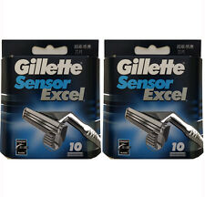 Gillette Sensor Excel Refills 20 Cartridges (2 Packs of 10 Blades)