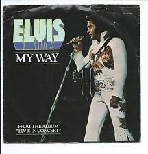 "1977 ELVIS ""MY WAY"" W/ORIG. P/S 45rpm 7"""