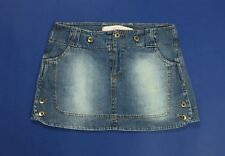 gaudi minigonna jeans tg 40 w26  XS usato sexy hot disco corta denim blu T642