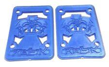 NOS Rellik Skateboard 4 mm Riser Shock pads. Bleu Paire-Old School années 90 Skate
