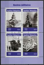 Madagascar 2019 CTO Military Ships Battleships Warships 4v M/S Stamps